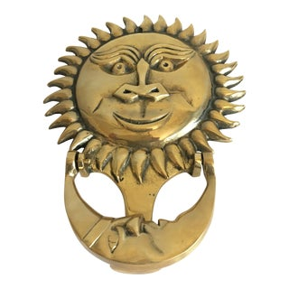 1970s Sun & Moon Door Knocker