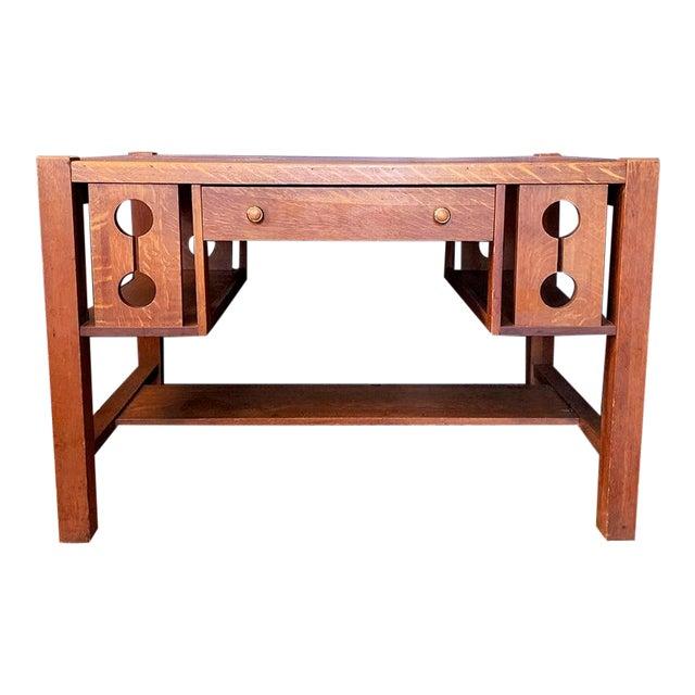 1930s Wood Craftsman Desk For Sale