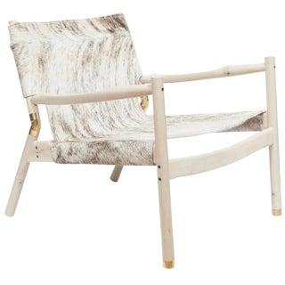 Customizable Erickson Aesthetics Slung Brindle Hide Holly Lounge Chair For Sale