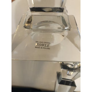 Towle 24% Lead Crystal Candle Holders - A Pair Preview