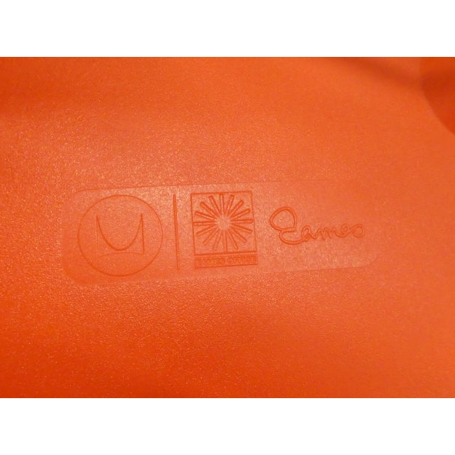 8 Orange Herman Miller Eames Office Eiffel Tower Chairs For Sale - Image 9 of 10