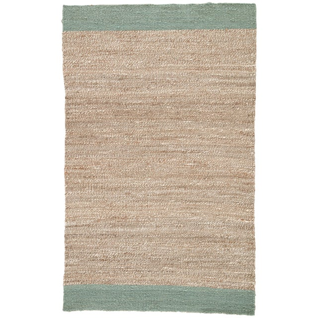 Jaipur Living Mallow Natural Bordered Tan & Blue Area Rug - 9' X 12' For Sale In Atlanta - Image 6 of 6