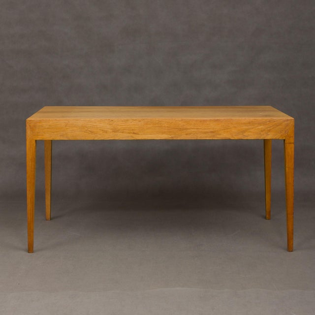 Severin Hansen Mid-Century Modern Severin Hansen Oak Writing Desk For Sale - Image 4 of 12
