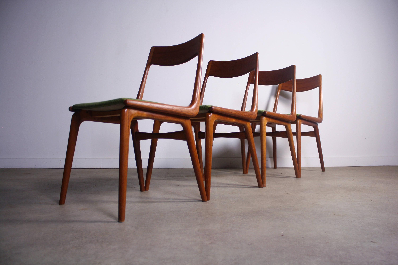 Amazing Teak Boomerang Dining Chairs By Erik Christensen   Set Of 4   Image 2 Of 4