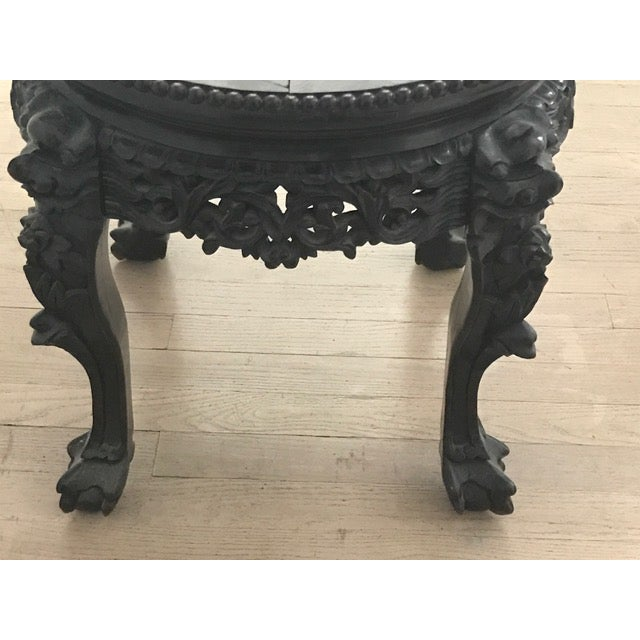 Chinese Antique Marble Side Table - Image 4 of 7