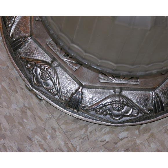 French Art Deco Ceiling Lantern For Sale - Image 4 of 8