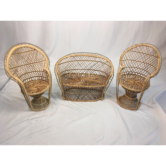 Miniature Rattan Furniture - Set of 3 For Sale In Charleston - Image 6 of 6