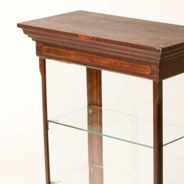 Late 19th Century Late 19th Century Antique English Table Top Display Cabinet For Sale - Image 5 of 6