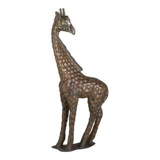 Copper and Brass Giraffe by Sergio Bustamante 12/100 For Sale