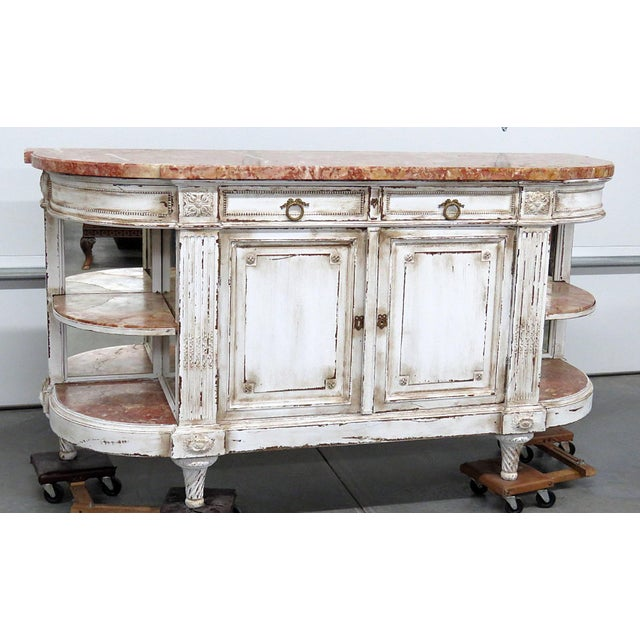 Antique Marble Top Paint Decorated Sideboard For Sale - Image 10 of 10