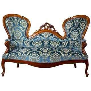 19th Century Neo-Rococo Walnut Sofa For Sale