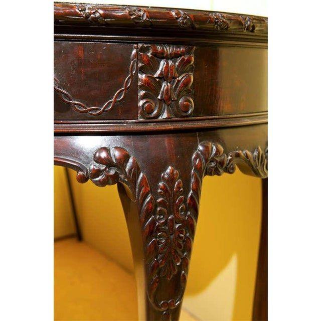 English Georgian Style Demilune Console Table - Image 5 of 8