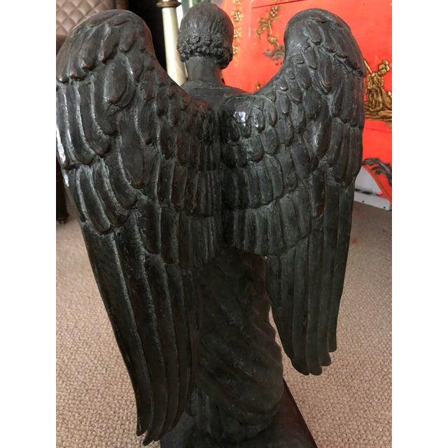 Metal Bronze Archangel Sculpture From Roman Bronze Works For Sale - Image 7 of 8