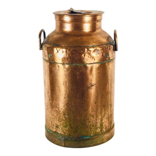 Early 1900's Copper Milk Can