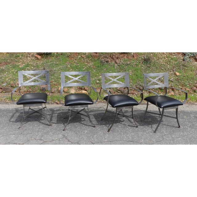 "Vintage Mid Century Arthur Umanoff for Shaver Howard ""X"" Chairs- Set of 4 For Sale In Sacramento - Image 6 of 13"