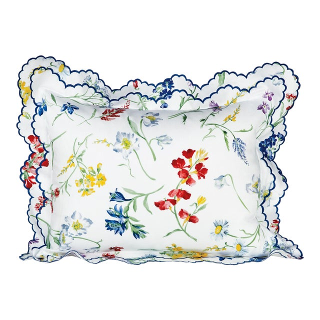 Spring Blossom Sham Multi-Colored in Standard For Sale