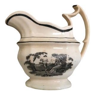 Antique Ironstone Transfer Ware Creamer For Sale