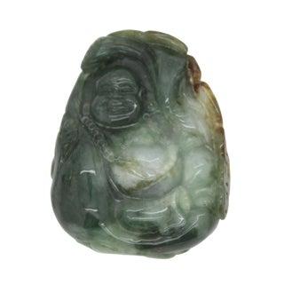 Dark Green Jade Pendant Happy Buddha, Laughing Buddha Statue For Sale