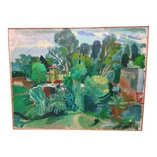 """1972 Boston Expressionism """"Classical Landscape"""" Painting by Jason Berger For Sale"""
