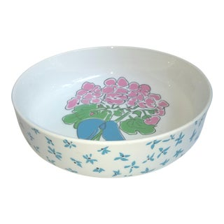 1970s Pretty Preppy Floral Gloria Vanderbilt Serving Bowl for Sigma Tastesetters For Sale