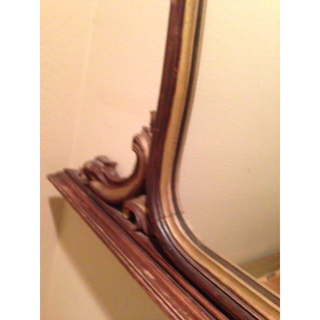 Antique Hand-Carved Wood Framed Mirror - Image 7 of 11