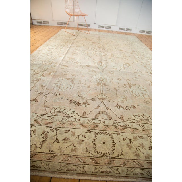 "Vintage Distressed Oushak Carpet - 7'2"" x 12'1"" For Sale - Image 9 of 10"