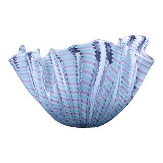 Venini Fazoletto Art Glass Bowl For Sale