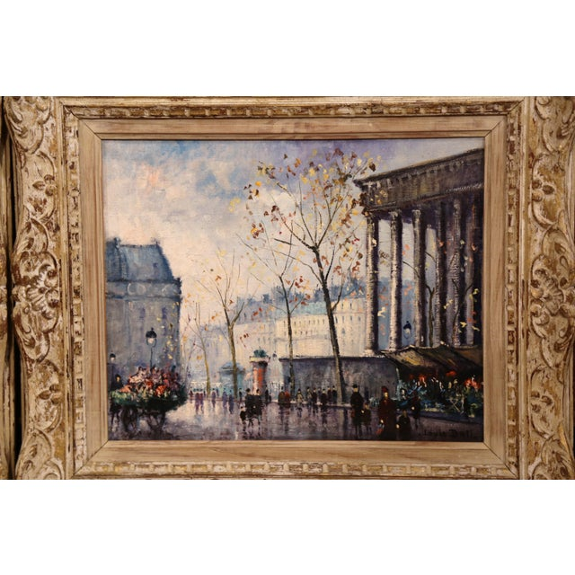 Mid 20th Century Pair of Mid-20th Century French Paris Paintings in Carved Frames Signed L. Dali For Sale - Image 5 of 12