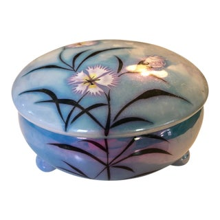 Art Deco Japanese Floral Lusterware Box For Sale