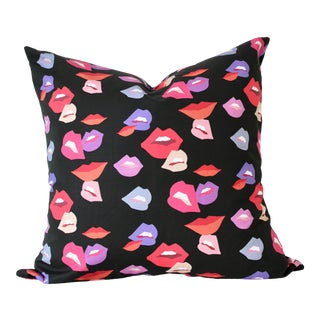"Contemporary Lips Pillow Cover - 22"" For Sale"