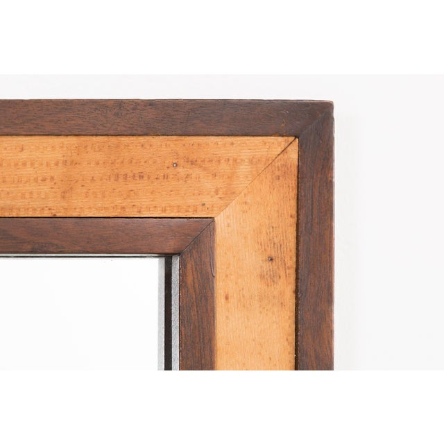 Mid-Century Modern Edward Wormley for Dunbar Mahogany 4977 Square Mirror For Sale - Image 3 of 7