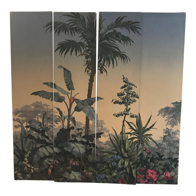 Zuber Wallpaper Panels Mounted on Boards - Set of 4 For Sale