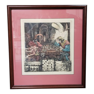 "1986 Jack R. Miller ""The Game of Life"" Limited Edition Signed Hand Colored Engraving, #39/250, New Orleans For Sale"
