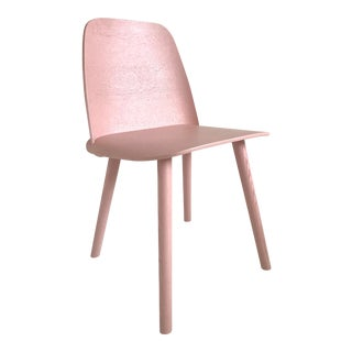 Muuto Nerd Rose Lacquered Oak Chairs - Set of 4 For Sale