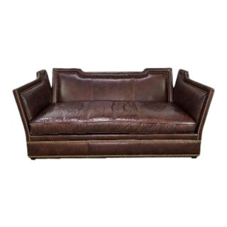 Leather Sofa by Ferguson Copeland For Sale