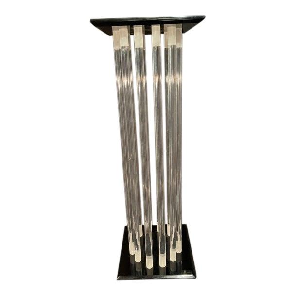 Shlomi Haziza Mid Century Lucite Pedestal For Sale