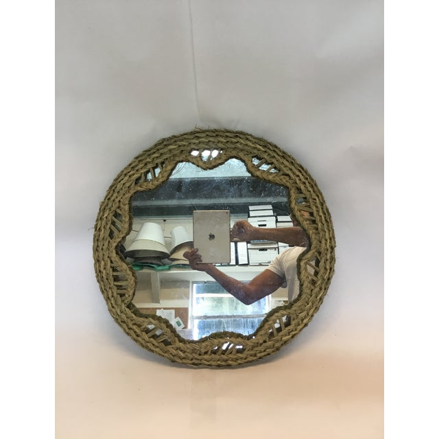 Handmade from Wood, Mirror, Rope Gorgeous nautical round rope mirror! Perfect piece for so many places and occasions! Hang...