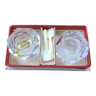 Baccarat Vintage Lead Crystal Salt or Caviar Cellars - a Pair For Sale
