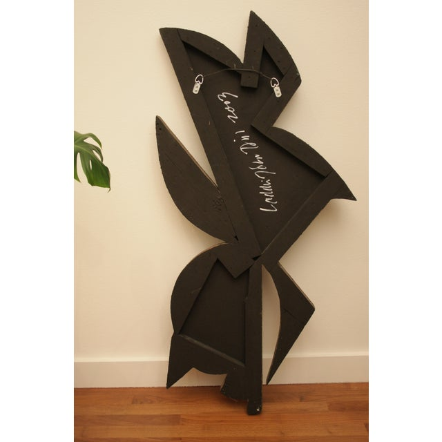 """Wood 48"""" Tall Abstract Resin Sculpture by Laddie John Dill For Sale - Image 7 of 12"""