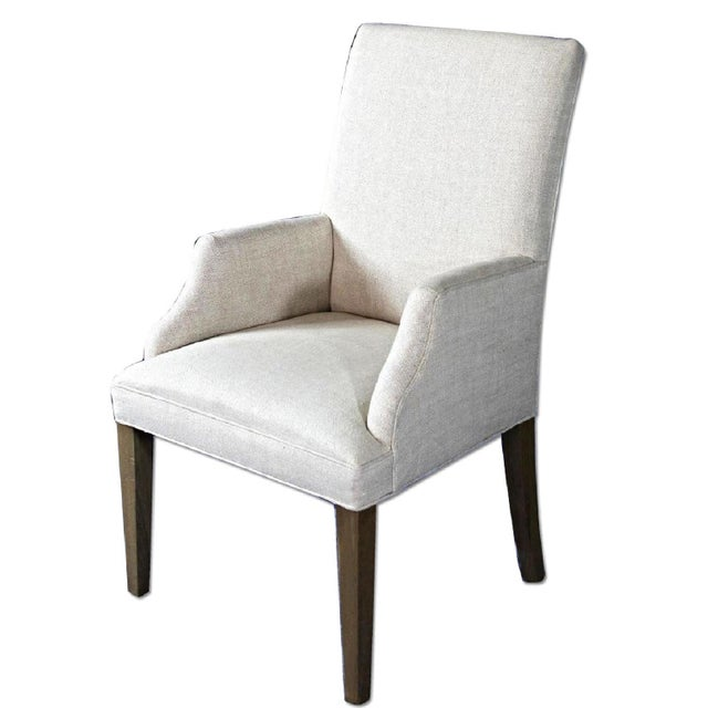 Contemporary Modern Upholstered Armchairs - A Pair For Sale - Image 3 of 11