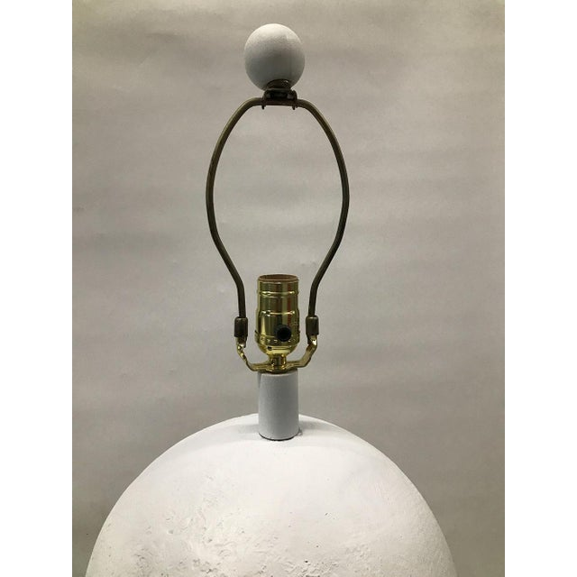 Gold 1970s Plaster Sphere Lamps — a Pair For Sale - Image 8 of 11