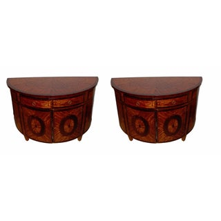 Demilune Console Tables - a Pair For Sale