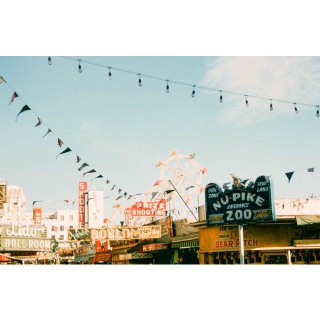 1950s Vintage 1950s Long Beach California Pier Photograph Print For Sale - Image 5 of 5