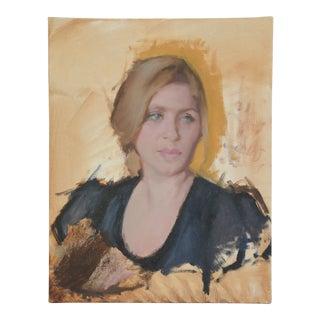Vintage Female Portrait Oil Painting Study