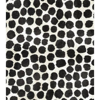 Genevieve Gorder Onyx Puffy Dotty Fabric Bty For Sale