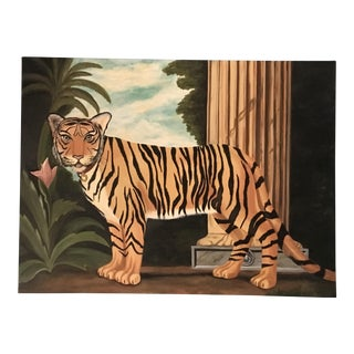 William Skilling Tiger Oil Painting For Sale