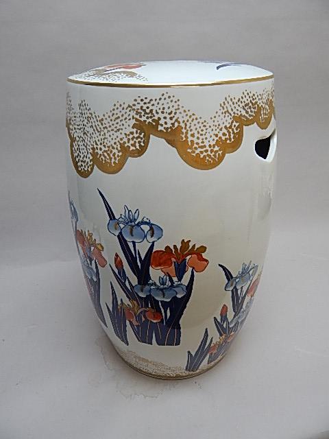 Japanese Gold Imari Garden Seat   Image 2 Of 6