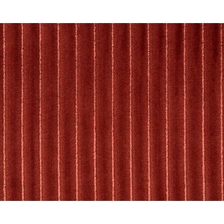 Hinson for the House of Scalamandre Highlight Fabric in Red For Sale