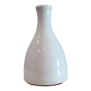 Painted Terra-Cotta Bud Vase For Sale