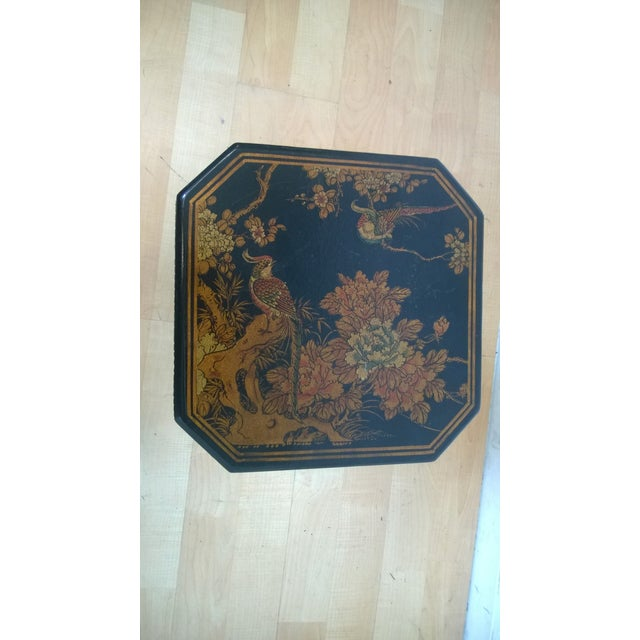 Asian Motif Painted Wood Umbrella Stand - Image 5 of 10